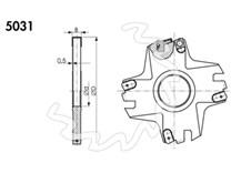 Referenční fréza s VBD KARNED 5031 140x12x40 - nákres