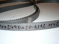 Pilový pás na kov bimetal šíře 20 mm - ozubení 8/12 - střední