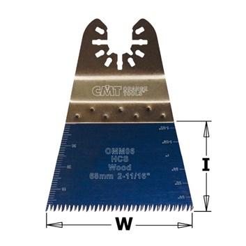 CMT Ponorný pilový list s japonským zubem HCS, na dřevo - 68mm, sada 5 ks