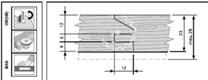 Sada fréz na nábytková dvířka KARNED 8153 s VBD 4 profily - profil