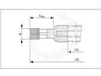 Fréza na dřevo drážkovací, stavitelná KARNED 2650 - nákres