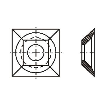 IGM Žiletka tvrdokovová - 21x21x5 Dřevo
