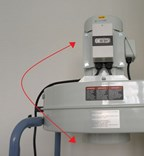 Odsavač pilin ADAMIK FT202SF - možnost otočení motoru