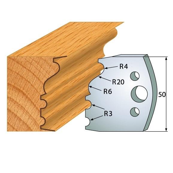 pár nožů 50x4mm SP - profil 513