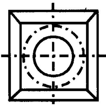 Žiletka tvrdokovová N013 - 17x17x2 D=4 Dřevo+
