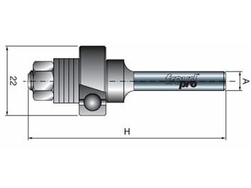 Stopková fréza na dřevo kotoučová - stopka s ložiskem FREUD 6012008