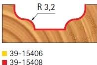 Stopková fréza tvarová bez ložiska FREUD 3915408 - profil frézování