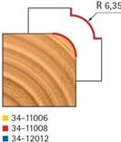 Stopková fréza na dřevo rádiusová vydutá FREUD 3411008 - frézovaný profil
