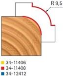 Stopková fréza na dřevo rádiusová vydutá FREUD 3411408 - frézovaný profil