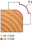 Stopková fréza na dřevo rádiusová vydutá FREUD 3411208 - frézovaný profil