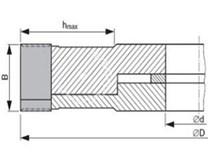 Fréza na dřevo falcovací KARNED 3553/S 160x30 stavitelná 20-40 - nákres