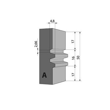 Profilový nůž pro F620 - 50x24x2mm