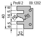 Výměnné břitové destičky pro frézu na nábytkové dveře KARNED 8152/S - Profil č. 2