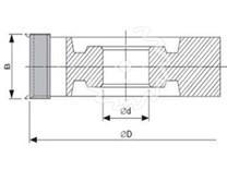 Fréza na dřevo falcovací KARNED 5012 125x30-30 - nákres