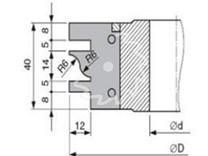 Fréza na nábytkové dveře KARNED 8152/S s VBD - nákres ozubení