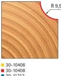 Stopková fréza na dřevo rádiusová vypouklá FREUD 3010408 - profil frézování