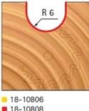 Stopková fréza na dřevo rádiusová do plochy FREUD 18-10808 - profil frézování