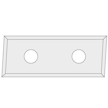 IGM N017 Žiletka tvrdokovová Z4 zkosená 3° - 48,3x12x1,5 LH UNI