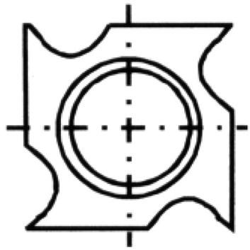Žiletka tvrdokovová N021 - 18x18x2,95 Dřevo+