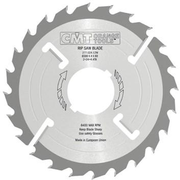 CMT Rozmítací kotouč s vyklizovacím zubem zesílený - D350x4,2 d30 Z26+4 MEC HM