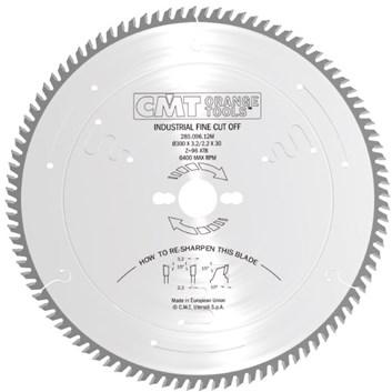 CMT Industrial Pilový kotouč pro finální příčné řezy - D305x3,2 d30 Z72 HM -5°Neg