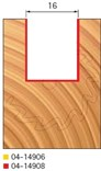 Stopková fréza na dřevo drážkovací FREUD 0414908 - profil frézování