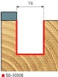 Stopková fréza na dřevo drážkovací FREUD 5010308 - profil frézování