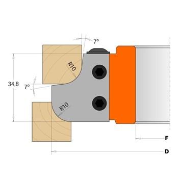 CMT Nůž pro C694007 - pár žiletek R15mm