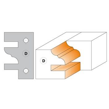 CMT Nůž pro C694014 - pár žiletek profil D 40x24,5x2mm