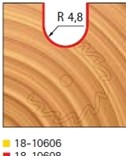 Stopková fréza rádiusová do plochy FREUD 18-10608 - profil frézování