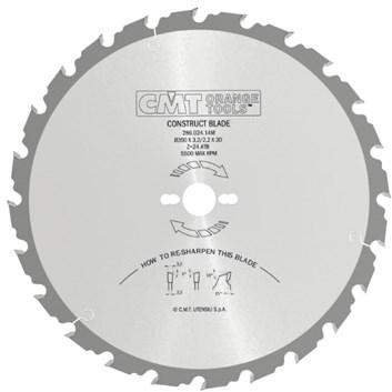 CMT Pilový kotouč na stavební řezivo - D550x4,0 d30 Z40 HM