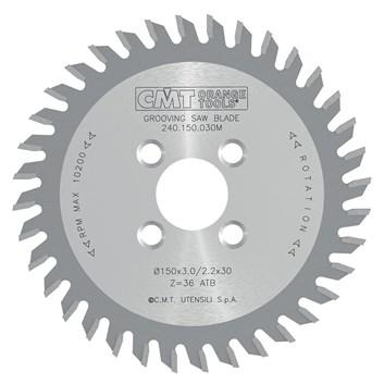 CMT Drážkovací kotouč pro CNC D150x3 d30 Z36 HW