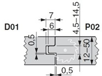 Sada fréz na podlahové palubky KARNED D01P02 - nákres
