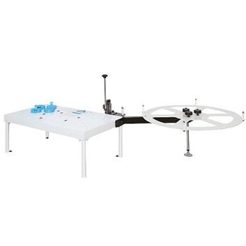 Olepovací a ořezávací stůl se zásobníkem pro DR500, BR300