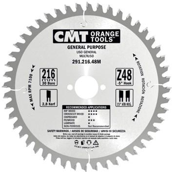 CMT Pilový kotouč pro elektronářadí univerzální - D165x2,6 d30 Z24 HM