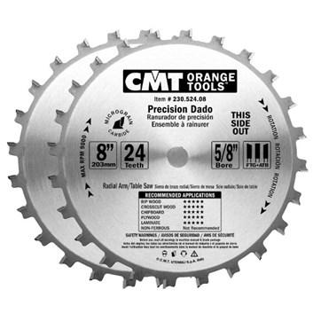 CMT Sada drážkovacích kotoučů D200x6,4-22,2 d30 Z24 HM