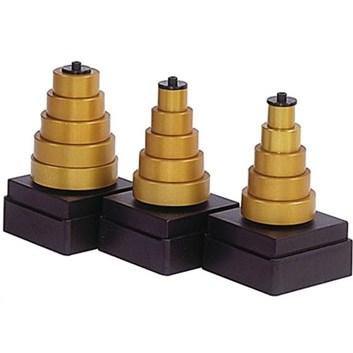 IGM Sada ALU kroužků pro falc - 1,6+3,2+6,35+9,5+12,7mm