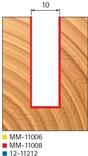 Stopková fréza na dřevo drážkovací FREUD MM11008 - profil frézování