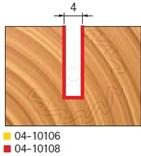 Stopková fréza na dřevo drážkovací FREUD 0410108 - profil frézování