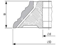 Fréza na dřevo na ozdobné lišty KARNED 8371 180x30-60 - nákres