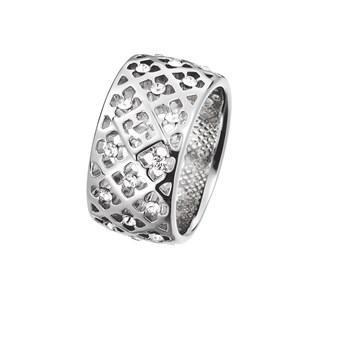 Stříbrný prsten Unobtrusive Flowers